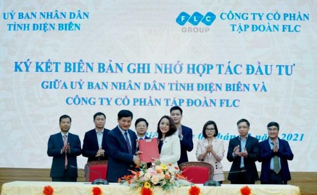 VPUB - UBND tỉnh Điện Biên ký kết biên bản ghi nhớ hợp tác đầu tư với Công ty cổ phần tập đoàn FLC