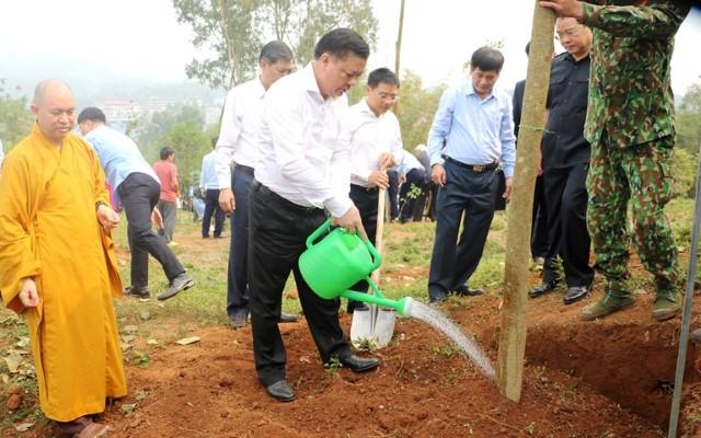 VPUB - Điện Biên phát động trồng cây hoa Ban năm 2021