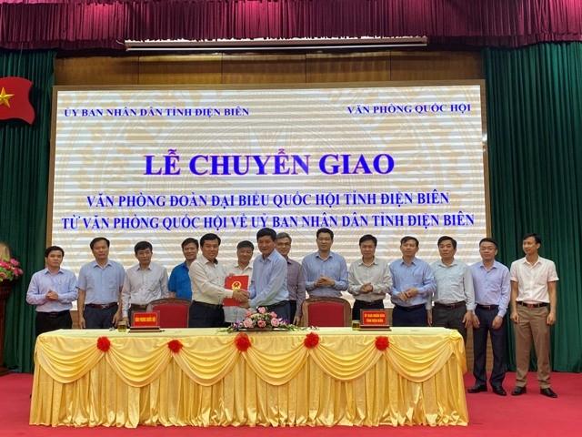 VPUB - Chuyển giao Văn phòng Đoàn ĐBQH tỉnh từ Văn phòng Quốc hội về UBND tỉnh